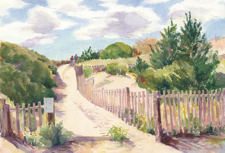 """Summer's End,"" Watercolor by Alice Steer Wilson"