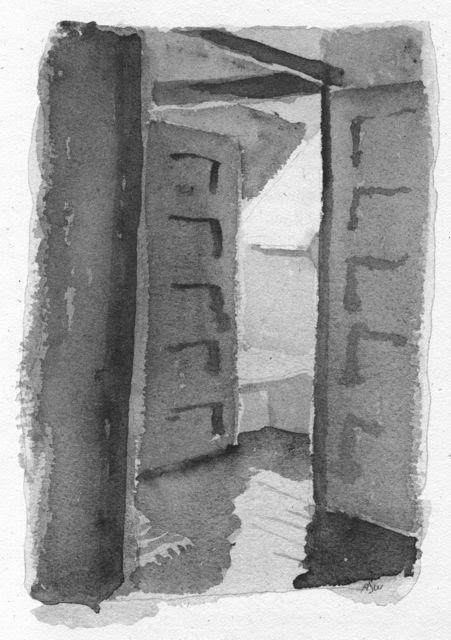 Be My Guest, 1992 Alice Steer Wilson watercolor on paper
