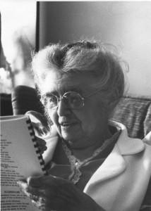 Margery Wells Steer, 91, reads her memoir