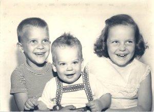 Harry, Paul, and Bernadette Stridick, c. 1958.
