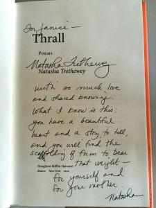 Natasha's Inscription to me, August  2012